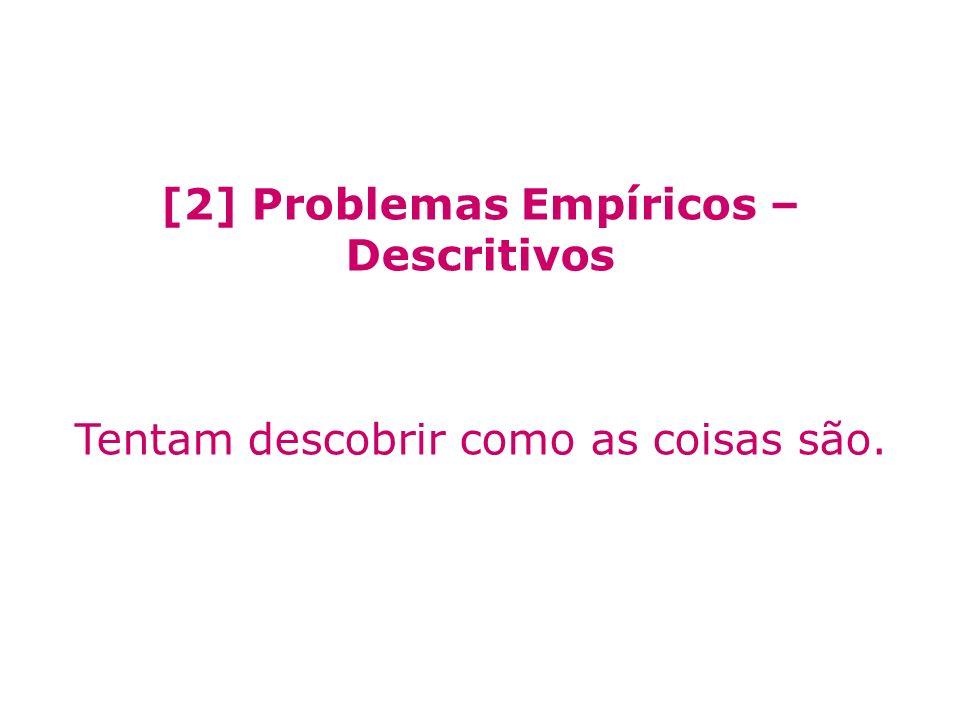 [2] Problemas Empíricos – Descritivos